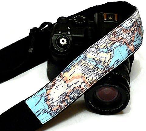 World Map Camera Strap by LiVe Design; 070