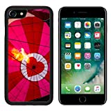 Luxlady Premium Apple iPhone 7 Aluminum Backplate Bumper Snap Case iPhone7 IMAGE ID 31166480 View of top of heart hot air balloon during inflation with flame from basket