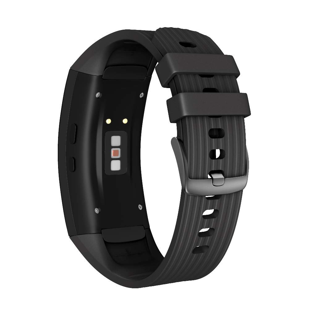 ANCOOL Compatible Samsung Gear Fit2 Pro Band/Gear Fit 2 Bands, Replacement Silicone Smartwatch Bands Compatible Samsung Gear Fit2 Pro (Large, Black)