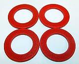 FOUR PACK Size #22 fiber meat grinder thrust washer fits Hobart auger worm