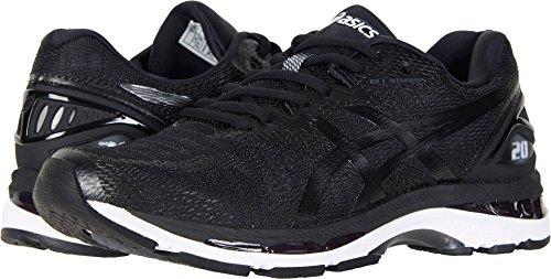 ASICS Men's Gel-Nimbus 20 Running Shoe, black/white/carbon , 8.5 Medium US