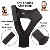 Anti-Snoring Chin Strap by Balanceed – Premium Snore Stopper – Best for Natural Snore Relief – Adjustable fit for Men and Women – Perfect Solution for a Good Night Sleep