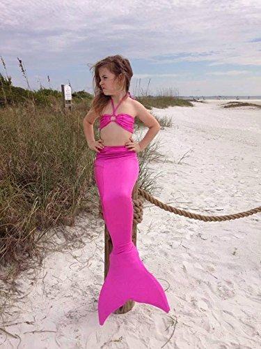 Amazon.com: swimmable cola de sirena Coral Pink 5 – 7yrs ...