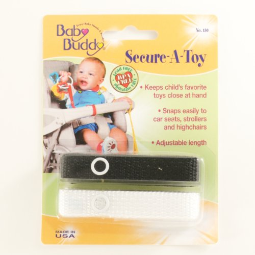Baby Buddy Secure-A-Toy 2Ct Black-White (Pack Of 24) by Baby Buddy