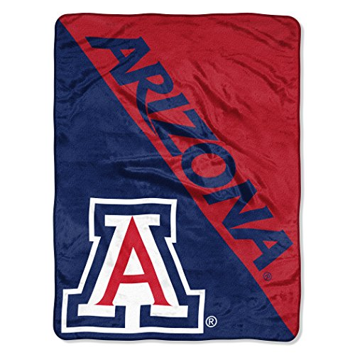 "The Northwest Company Officially Licensed NCAA Arizona Wildcats Halftone Micro Raschel Throw Blanket, 46"" x 60"""