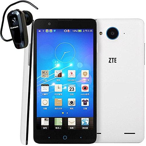 ZTE Red Bull V5 Unlocked Smartphone (gift-Bluetooth Headset) 5.0 inch 13MP Play Store Nubia UI 2.0 V5 Qualcomm MSM8926 Quad Core 1.2GHZ RAM 1GB ROM 4GB IPS Screen GSM Dual SIM (White+ Bluetooth Headset)
