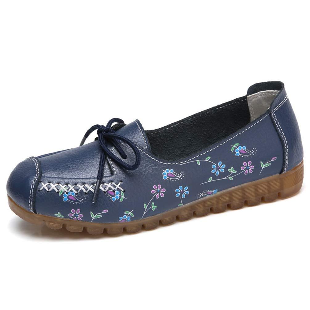 Encaje de Las Mujeres Mocasines Planos Superficiales Casual Zapatos Mujer Mocasines Cuero Mocasines Mujeres Zapatos Mocasines señoras cómodas: Amazon.es: ...