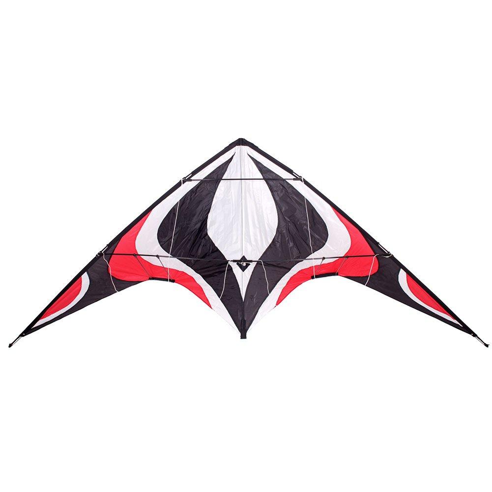 Babyeden Sport Lenkdrachen mit zwei Leitungen und X-LARGE 7 FT WING SPAN Prism Delta Outdoor-Fliegen (Rote) SW-R516SK
