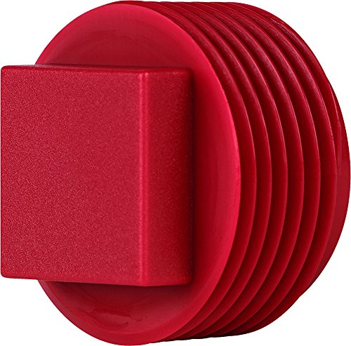 MOCAP SPN1000RD4 -- SQUARE HEAD PLUG FOR 1-11-1/2 NPT THRDS, PP RED (pack of 30)