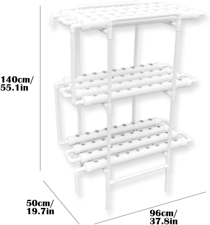 ghdonat.com WEPLANT NFT Hydroponic Growing System 1 Layer 72 Holes ...