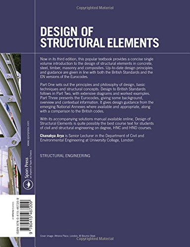 Design of structural elements concrete steelwork masonry and design of structural elements concrete steelwork masonry and timber designs to british standards and eurocodes amazon chanakya arya fandeluxe Gallery