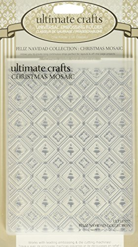 Ultimate Crafts Embossing Folder, 4 by 6-Inch, Christmas Mosaic by Ultimate Crafts