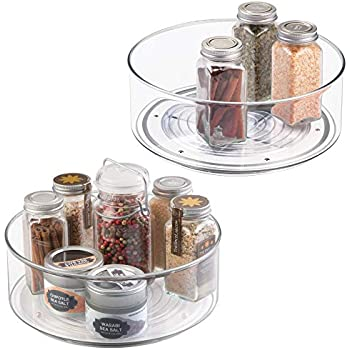 Charmant MDesign Plastic Round Lazy Susan Rotating Turntable, Food Storage Container  Cabinets, Pantry, Refrigerator
