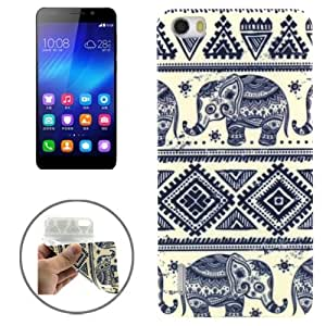 Ultrathin Elephants Pattern TPU Protective Case for Huawei Honor 6