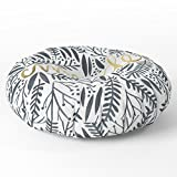 Society6 Pardon My French Black & Gold Floor Pillow Round 26'' x 26''