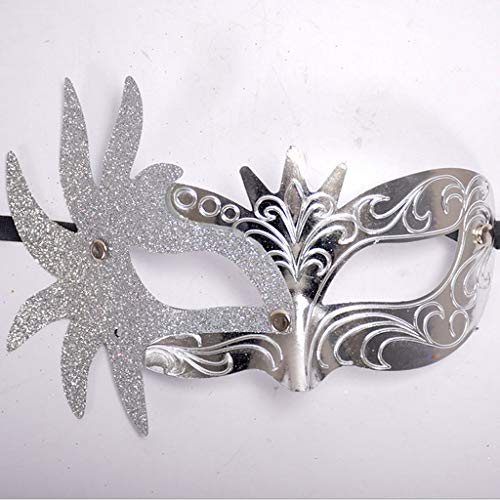 Onefa Masquerade Mask for Women Shiny Glitter Venetian Pretty Party Evening Prom Mask -