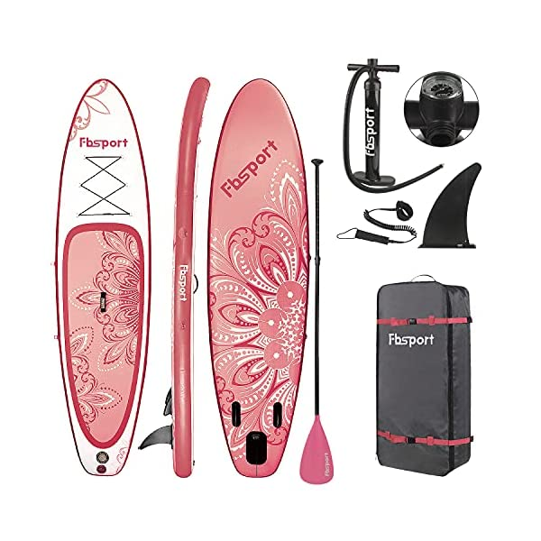 FBSPORT-1010611-Premium-Inflatable-Stand-Up-Paddle-Board-Yoga-Board-with-Durable-SUP-Accessories-Carry-BagWide-Stance-Surf-Control-Non-Slip-Deck-Leash-Paddle-and-Pump-for-Youth-Adult