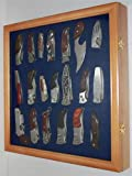 wall display case for knives - Knife Shadow Box / Display Case With Glass Door Wall Mountable