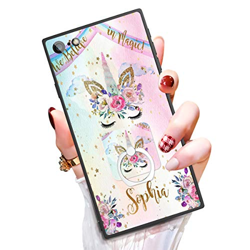 """Someseed Case for iPhone 6 Plus iPhone 6s Plus Case with Kickstand Cute Unicorn Cover Case with 360 Degree Ring Holder Anti Scratch Durable Full Protective for iPhone 6 Plus / 6s Plus 5.5"""""""