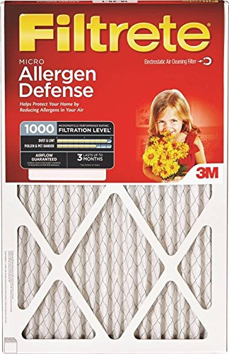 16x25x1, Filtrete Air Filter, MERV 11, by 3m