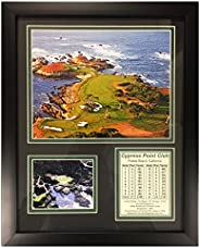Legends Never Die Cypress Point Golf Course Framed Photo Collage, 11 x 14-Inch