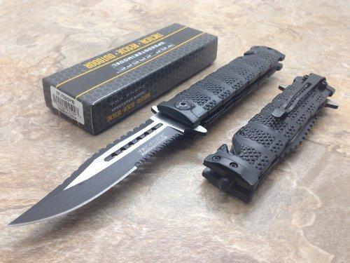 TAC Force 5in. Blk Rescue Folder Knife