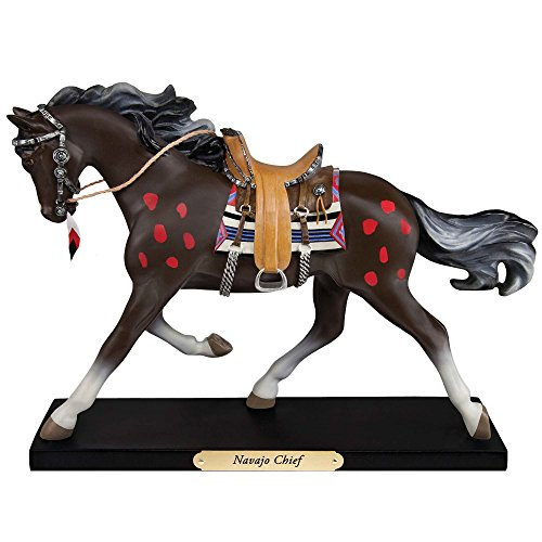 Enesco Trail of Painted Ponies Navajo Chief Stone Resin F...