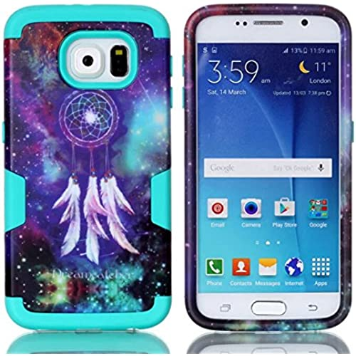 Galaxy S7 Case,Fusicase Galaxy Dream Catcher Pattern Durable Shockproof Hybrid Three Pieces Layers 3 in 1 Tough Rugged Soft TPU Bumper Hard PC Full Body Sales