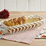 The Pioneer Woman Timeless Beauty 13.7-Inch Linen Bread Basket