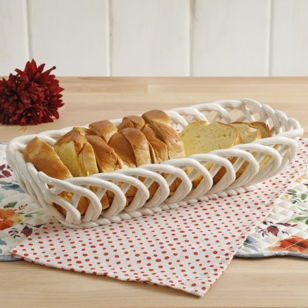 The Pioneer Woman Timeless Beauty 13.7-Inch Linen Bread Basket by The Pioneer Woman (Image #1)