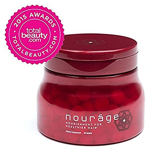 Nouráge Hair Growth Daily Vitamins 1-Month Supply - The Best Supplement Tablets for Thinning & Hair Loss / Thicker Hair Regrowth for Women & Men / Stronger, Shinier, Healthier Hair in 90 Days