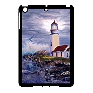 J-LV-F Design Case Lighthouse Customized Hard Plastic Case for iPad Mini