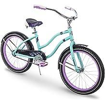 Huffy Fairmont 20 inch Girls Cruiser Bike, Metallic