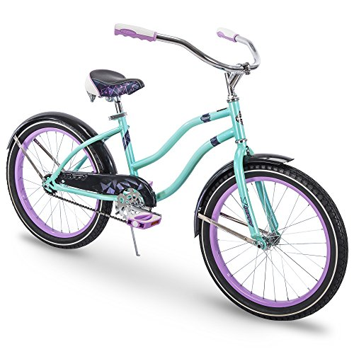 Girls Beach Cruiser Bikes - Huffy Kids Cruiser Bike for Girls, Fairmont 20 inch, Teal