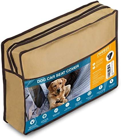 PAWBEE cubierta de asiento trasero impermeable para mascotas, antideslizante, a prueba de arañazos – SUV, camioneta, coche, hamaca de mascota, con ventana frontal de malla, resistente, para perros 8