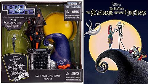 Jack's House DVD Bundle: Nightmare Before Christmas Mini Scene Pack Jack Skellington the Pumpkin King from Halloweentown & Tim Burton -