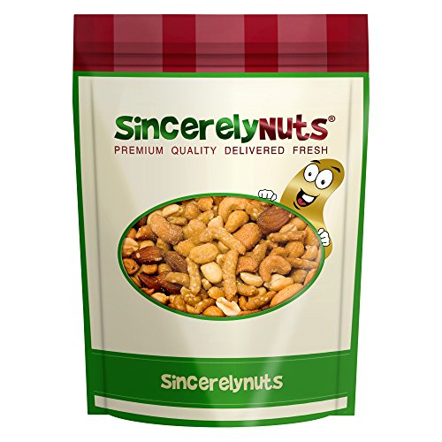 Sincerely Nuts Honey Coated Sweet Salty Mixed Nuts Trail Mix - Three Lb. Bag - Supremely Delish- Premium Freshness & Quality- Nutrient Rich- 100% Kosher Certified (Roasted Trail Mix)