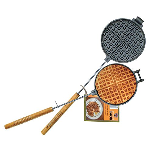 Rome's 1028 Chuckwagon Waffle Iron, Cast Iron (Cast Iron Waffles compare prices)