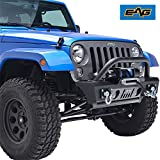 EAG 07-18 Jeep Wrangler JK Stubby Front Bumper with OE Fog Light Housing