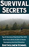 Survival Secrets: Top 20 Secrets of Survival That Will Save Your Life In A Life-or-Death Emergency Survival Situation