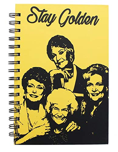 Golden Girls Stay Golden Spiral Notebook | Hardcover Book | Licensed ABC Merchandise and Accessories | Perfect to Use at Work, School, Home, and ()