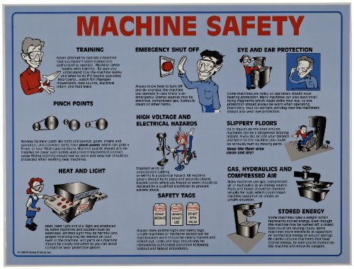 Workplace Safety Posters - Brady 45664 Prinzing Machine Safety Poster Tubed