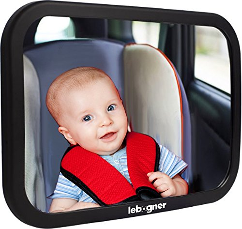 lebogner Back Seat Mirror, Rear-Facing Infant Mirror, Adjust