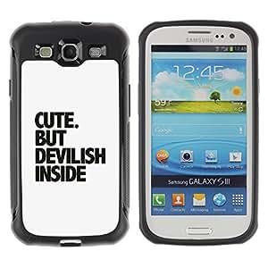 Hybrid Anti-Shock Defend Case for Samsung Galaxy S3 / Cute Message