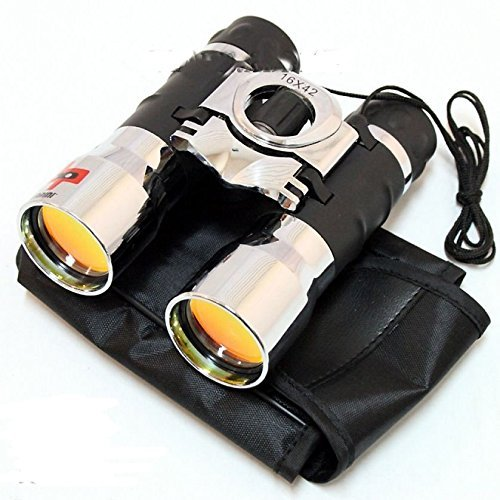 16X42 Ruby Lenses Chrome Compact Binoculars Outdoors Camping