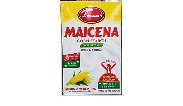 Amazon.com: Levapan Maicena Corn Starch - 100% Natural - 0 Trans Fat Gluten Free 13.40 OZ: