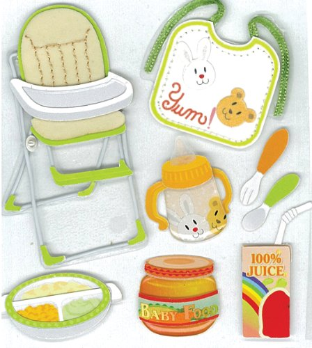 Jolee's Boutique Feeding Time Dimensional Stickers