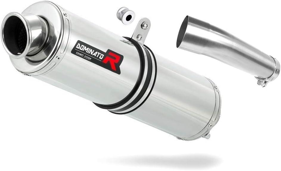 SV 650 N Pot d/échappement Rond Silencieux Dominator Exhaust Racing Slip-on 1999 2000 2001 2002