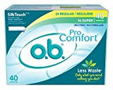 O.B. Tampons 24 Regular - 16 Super Pro Comfort Silk Touch (6 Pack)