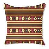 Traditional Kilim 18X18 Burlap Pillow 2-Sided